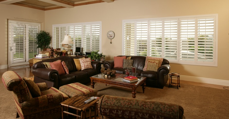 Fort Myers basement with french door shutters.